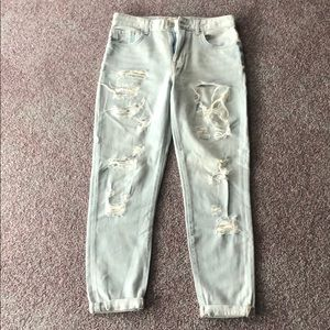 Forever 21 Faded Ripped Jeans